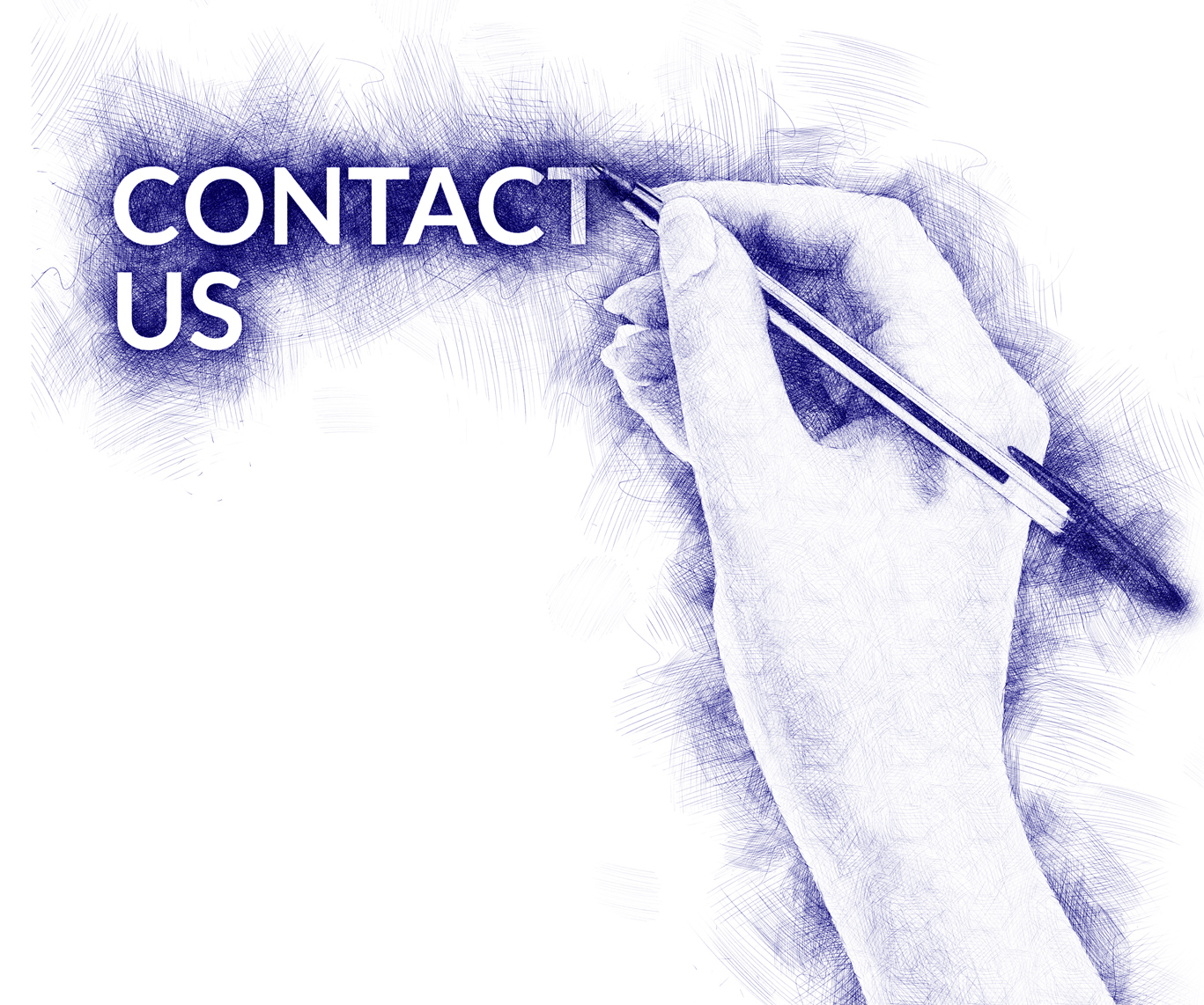 hand written contact us with BIC pen